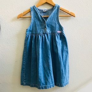 OSHKOSH B'Gosh girls Vtg denim dress 5 jumper